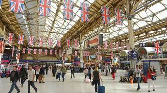 Victoria Station, during last year's Olympic Games